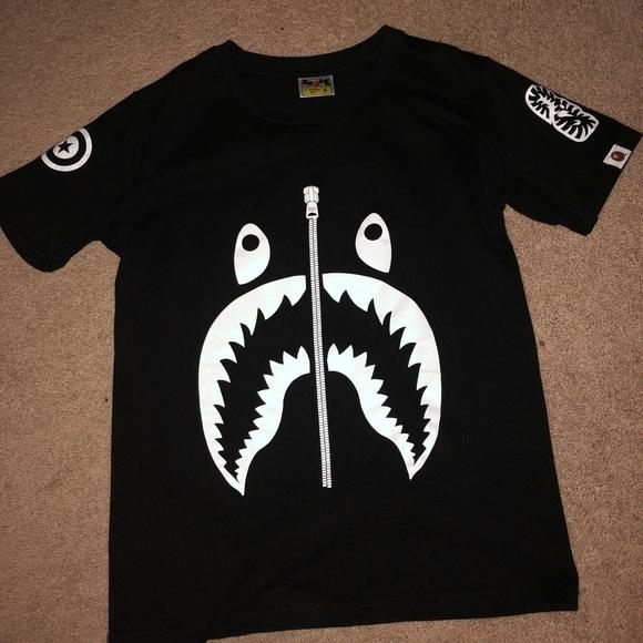 d4567960 Bape Shirts | Shark Tee | Poshmark